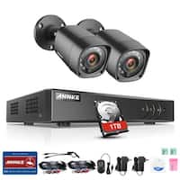 ANNKE 4CH 720P Home Video Security Camera System with 1080N DVR