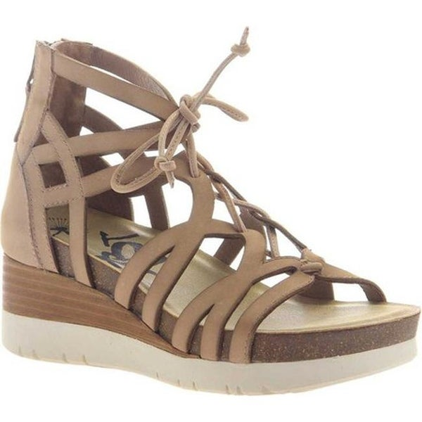 e1cb43d5d56c6d Shop OTBT Women s Escapade Gladiator Wedge Warm Pink Leather - Free  Shipping Today - Overstock - 20747089
