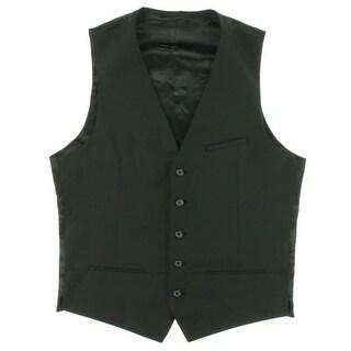 Zara Black Tag Mens Wool Blend Satin Back Suit Vest - S