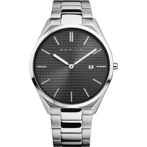 BERING Mens 17240-702 Ultra Slim Stainless Bracelet Watch