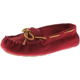 Old Friend Womens Jemma Suede Round Toe Moccasins