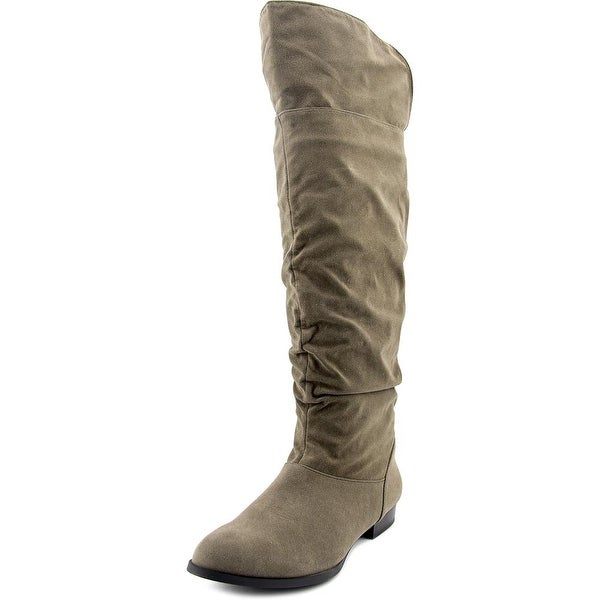 Style & Co Tiriza Wide Calf Women Round Toe Synthetic Gray Knee High Boot