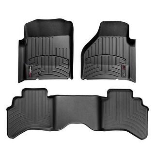 WeatherTech Dodge Ram 2002-2008, 2500/3500 2009 QuadCab Black Front & Rear Floor Mats FloorLiner 44004-1-2