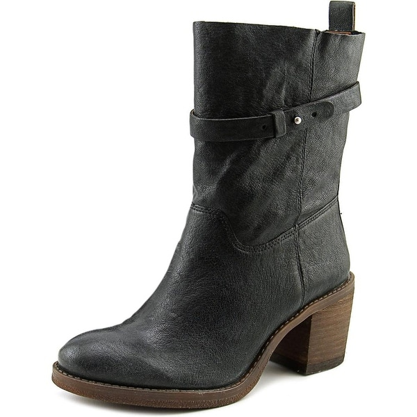 Lucky Brand Ramsey Women  Round Toe Leather Black Mid Calf Boot