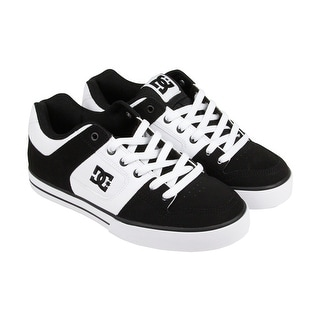 DC Pure Mens Black Suede Lace Up Lace Up Sneakers Shoes