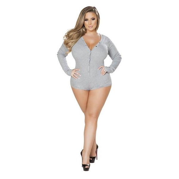 3b0ff1ab8761 Shop LI211-Grey-XL-XXL Cozy   Comfy Sweater Romper