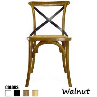 2xhome Mid Century Modern Contemporary Antique Style Cross Back X Open Wooden Frame Dining Accent Wood Chairs
