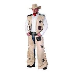 Mens Western Cowboy Halloween Costume - standard - one size