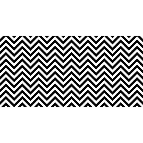 Fadeless Design Paper Roll, 48 in x 12 ft, Black and White Chevron