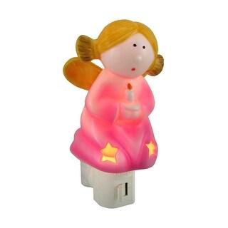 Adorable Pink Angel Shaped Porcelain Night Light