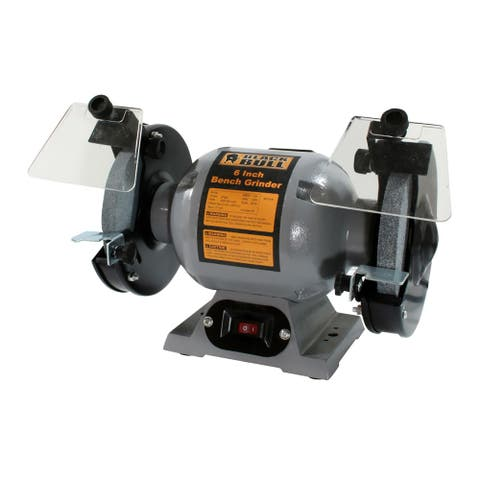 Offex 6 Inch 500 RPM Single Speed Bench Grinder