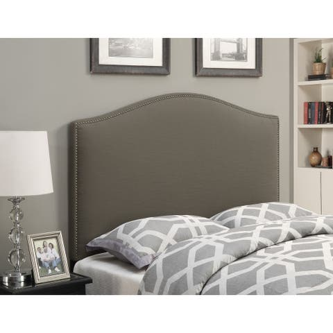 Taupe Upholstered Queen Headboard