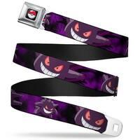 Pok Ball Full Color Black Gengar Action Poses Black Purples Webbing Seatbelt Belt