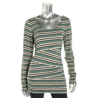Studio M Womens Robertina Casual Top Striped Long Sleeves - l