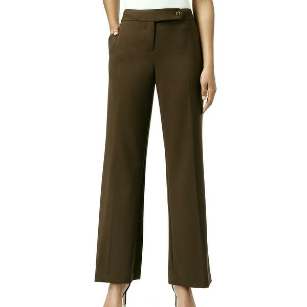 6bb00a15b88c Shop Calvin Klein NEW Green Loden Women Size 2P Petite Tab-Front Dress Pants  - Free Shipping On Orders Over  45 - Overstock - 17871448
