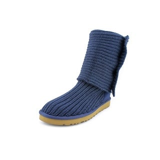 Ugg Australia Cardy Women Round Toe Canvas Blue Winter Boot