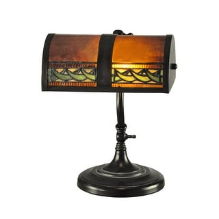 "Dale Tiffany TA100682 10"" x 14"" Egyptian Desk Lamp from the Mica Mission Collect"