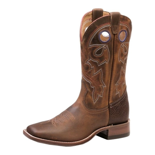 Boulet Western Boots Mens Stockman Rider Wide Square Tan Spice