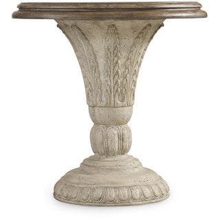 """Hooker Furniture 5391-50001  30"""" Diameter Hardwood Pedestal Table from the Solana Collection - Vintage French Cream"""