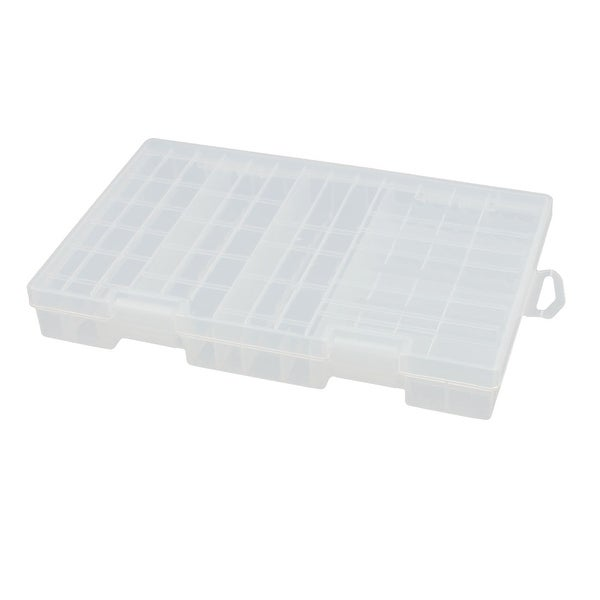 Transparent Hard Plastic Battery Storage Box Holder Organizer for AAA AA C D 9V