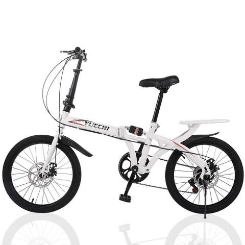 20in 7 Speed City Folding Compact Suspension Bicycle Urban Commuters - 50 x 84