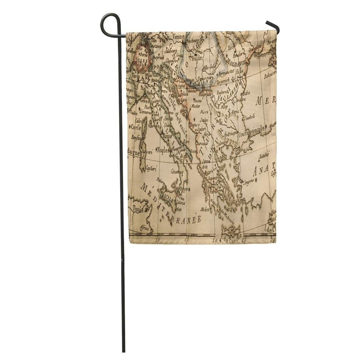 1780 Antique Old Map Italy And Greece 18thcentury Albania Bosnia Garden Flag Decorative Flag House Banner 12x18 Inch On Sale Overstock 31360360