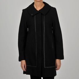 Hilary Radley Collection Women's Wool Walker w/Faux Leather Trim