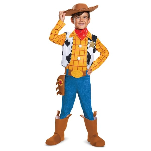 Shop Boys Woody Deluxe Toy Story Cowboy Costume Overstock