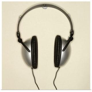 """Close-up of headphones"" Poster Print"