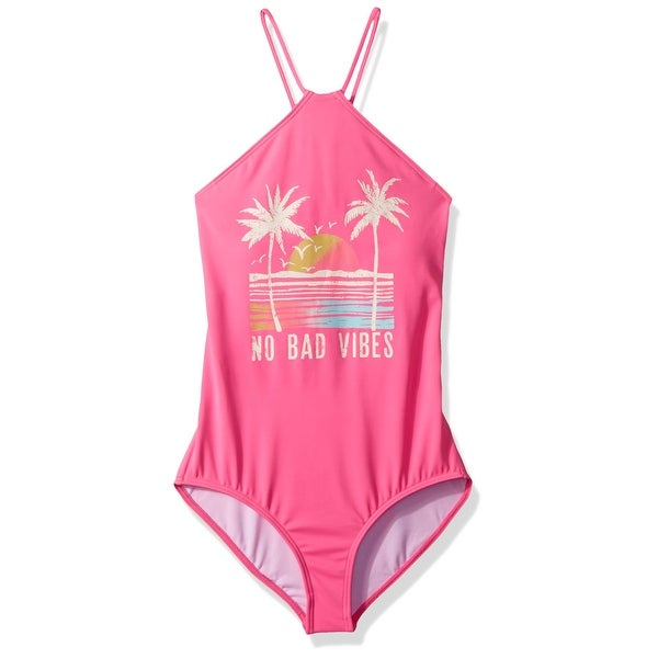 bbd8d439e1b83 Billabong Pink Girl's Size 10 Swimsuit No Bad Vibes Sunset Swimwear