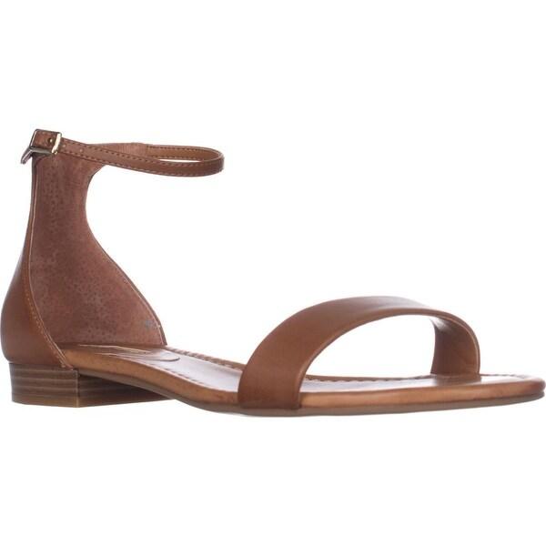 I35 Yaffa Flat Ankle Strap Sandals, Golden Cognac