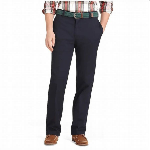 IZOD Mens Chino Pant Blue Size 44x34 Big & Tall Flat Front Straight Fit. Opens flyout.