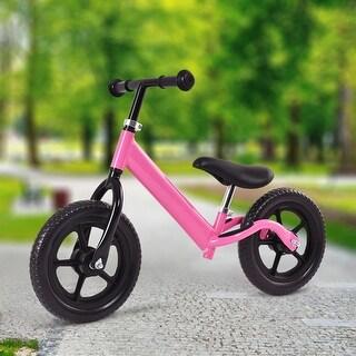 Costway 12'' Balance Bike Classic Kids No-Pedal Learn To Ride Pre Bike w/ Adjustable Seat