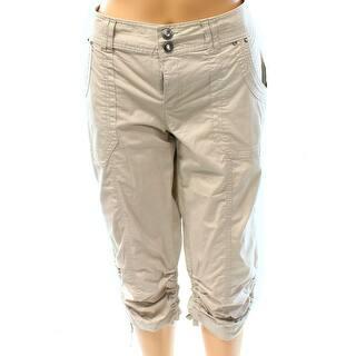 INC NEW Sand Beige Women's Size 8 Cargo Capri Cropped Curvy Fit Pants https://ak1.ostkcdn.com/images/products/is/images/direct/a0521f4e76c4b1c943382d3b916673864480b305/INC-NEW-Sand-Beige-Women%27s-Size-8-Cargo-Capri-Cropped-Curvy-Fit-Pants.jpg?impolicy=medium