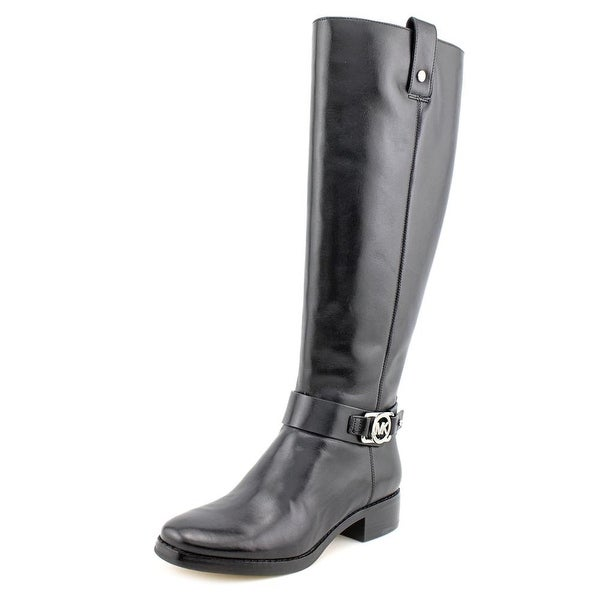 Michael Michael Kors Charm Riding Round Toe Leather Knee High Boot