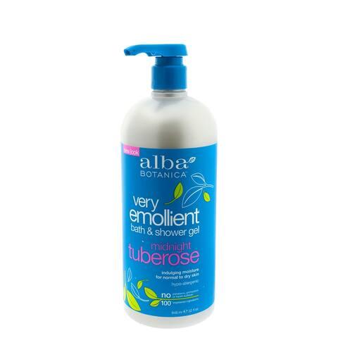 Alba Very Emollient Bath & Shower Gel Midnight Tuberose 32 Ounce