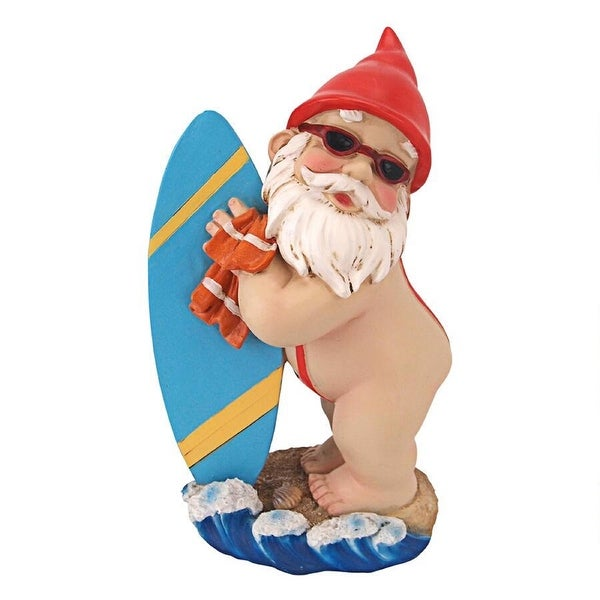 "9.5"" Surfer Dude Outdoor Garden Gnome Statue - N/A"