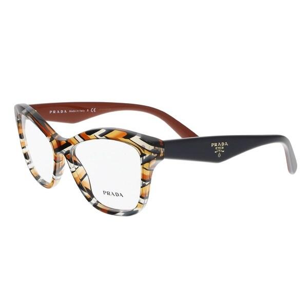 0e0c6dcb932 Prada PR 29RV VAN1O1 Sheaves Grey Orange Cateye Optical Frames - 54-17-140