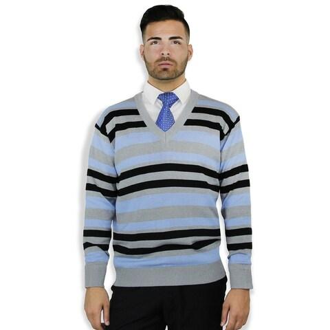 Striped V Neck Sweater (SW-0209)
