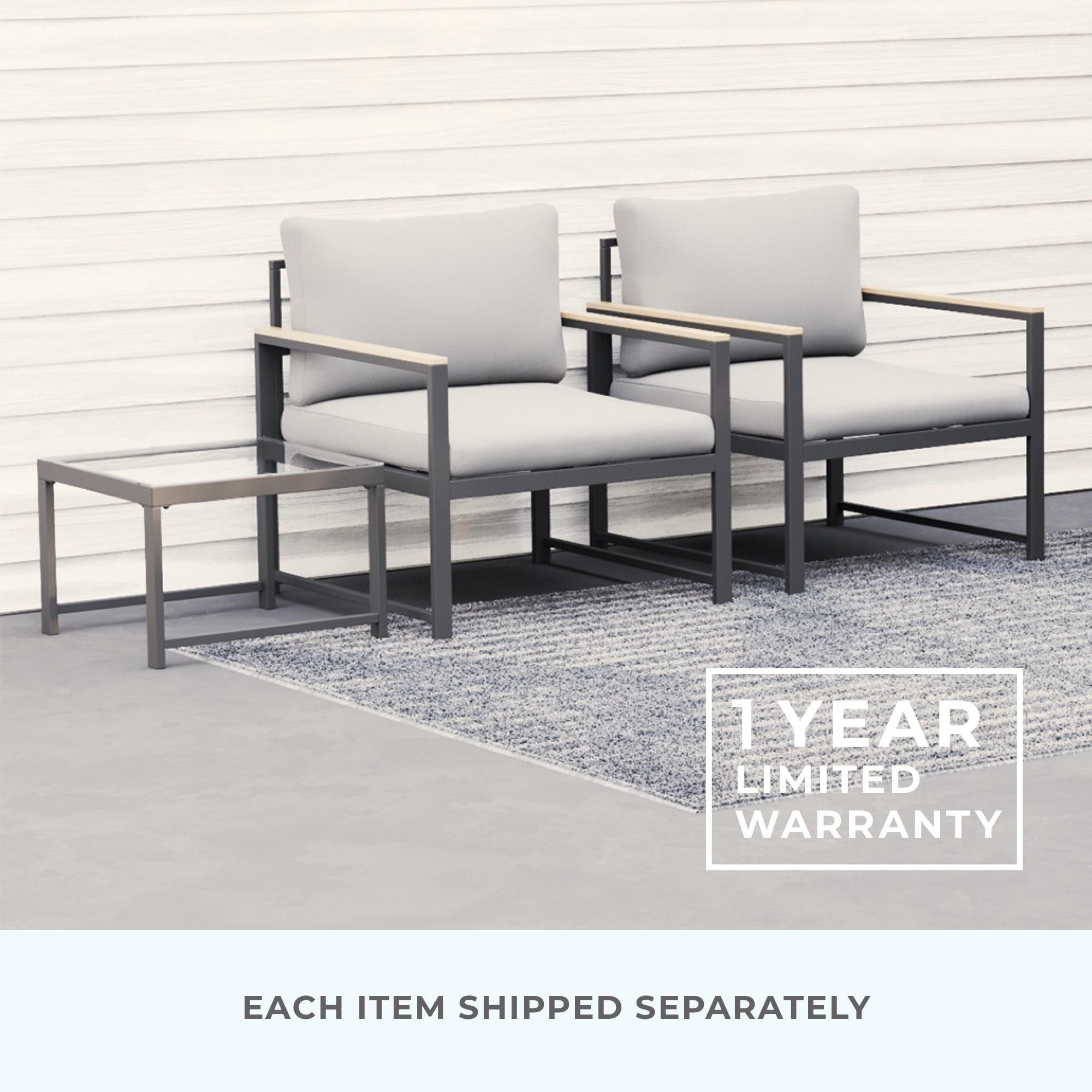 Brookside Meg Outdoor Metal Seating Set with Cushions   Overstock ...