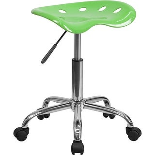 Brittany Apple Green Tractor Seat & Chrome Multipurpose Stool
