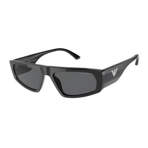 Emporio Armani EA4168F 507587 56 Black Man Pillow Sunglasses