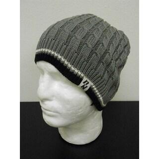 Grey Knit Fleece Lining Adult Ski Or Snowboard Beanie Hat By Zephyr 53Bi