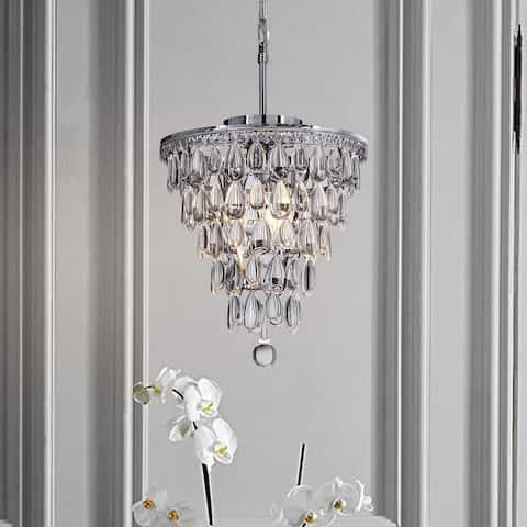 Interior Decor Glass Tear Drops 3-Lights Chandelier Ceiling Lighting