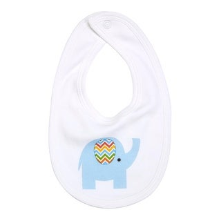 Drooling Baby Printed Cotton Bib with Snap