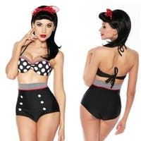 Fashion Cutest Retro Swimsuit Swimwear Vintage High Waist Bikini Set