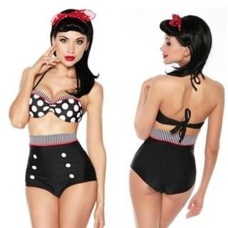 Fashion Cutest Retro Swimsuit Swimwear Vintage High Waist Bikini Set