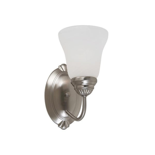 Sea Gull Lighting 44760962 Oaklyn 1-Light Bath Sconce Brushed Nickel Finish - Nickel Finish