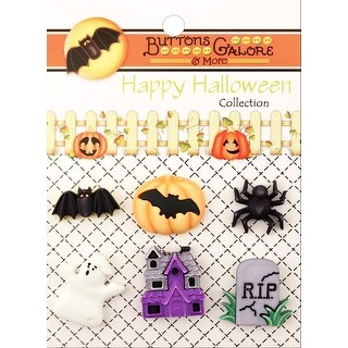 Buttons Galore Halloween Buttons 6/Pkg-Happy Hauntings