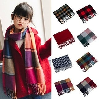 Winter Scarf Fashion Baby Plaid Scarf Boy Girls Neckerchief Head Neck Child